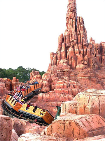 Big Thunder Mountain Railroad creates the thrilling feel of being on a runaway train through the Old West.