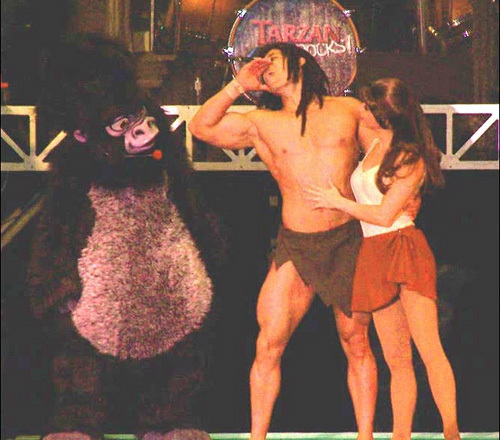 See Jane, Terk and your favorite vine swinging, chest-pounding muscle man at the 'Tarzan Rocks!' concert.