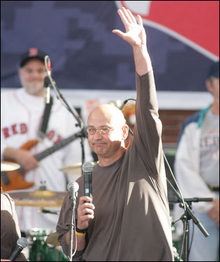 Red Sox manager Terry Francona spoke to the crowd.