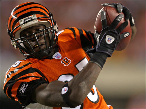 Bengals wide receiver Chad Johnson ran after the catch in the second half.