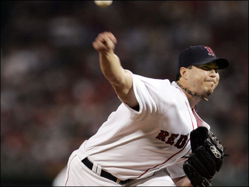 Josh Beckett pitched a 1-2-3 second inning.