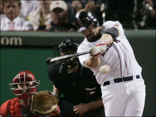 Kevin Youkilis ripped a hit in the third inning.