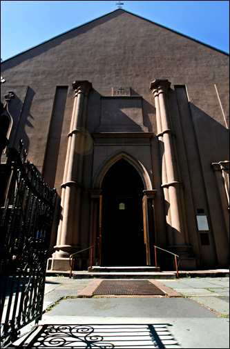St. Patrick's Old Cathedral sits at the corner of Prince and Mott streets in Little Italy.