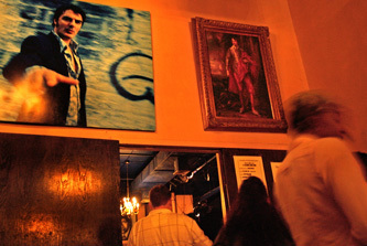 A photo of Chris Noth photo hangs above the entrance to the back room of the Cutting Room. Noth is the ''Sex and the City'' and ''Law & Order: Criminal Intent'' actor who has co-owned the space since 1999.