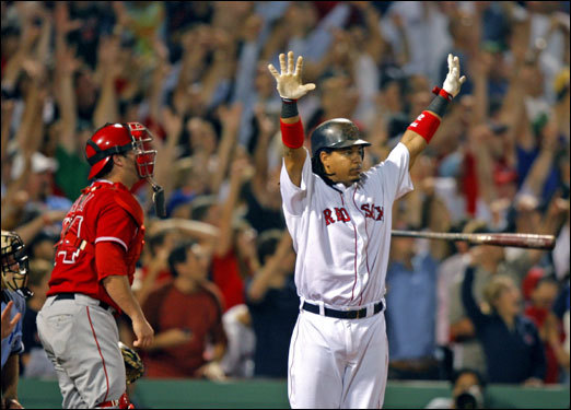 The home run was the first for Ramirez in the ALDS.