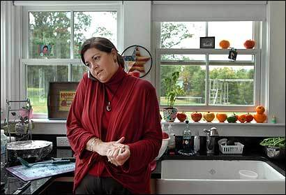 The former acting governor broke from making apple sauce at home in Williamstown.
