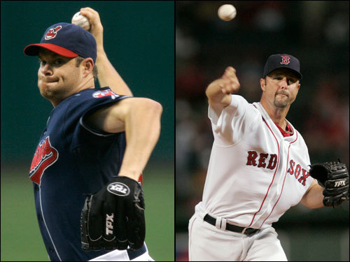 Tim Wakefield (shoulder injury) could be back for the ALCS after missing the ALDS. He is 9-8 with a 4.50 ERA lifetime against Cleveland. If Wake can't go, the Sox might consider having Beckett pitch Game 4 on short rest. Paul Byrd gave up 2 runs on 8 hits and 2 walks in 5 innings in the ALDS, earning a Game 4 win. He is 4-2 lifetime against Boston with a 4.12 ERA in seven starts, and he gave up just 1 run over 6 innings in his only 2007 appearance against the Red Sox. During the regular season, Byrd was 15-8 with a 4.59 ERA.