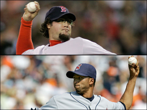 Eric Gagne gave up a run in his only inning of work in the ALDS; however, the Sox had the game well in hand, so no damage was done. He has a 3.00 ERA in three lifetime appearances against the Indians. Lefthander Rafael Perez emerged in 2007 as a top reliever, with a 1.78 regular season ERA. He gave up just one run in six innings in the ALDS, and has two career scoreless innings in one game against Boston.