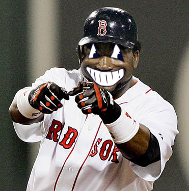 Bob from Sandwich sent us this doctored image of a wide smile on Papi's face.