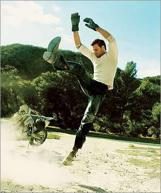 In this advertisement for Stetson cologne, Brady acted more like a punter than a quarterback.