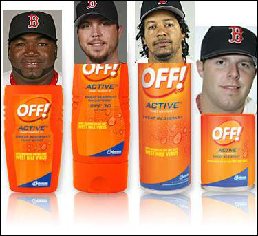 Justin Andrews has a novel idea for cross-sponsorship as the Red Sox prepare to deal with midges.