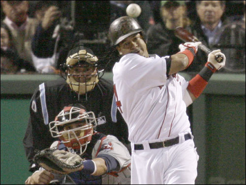 Manny Ramirez stroked an RBI single in the first inning.