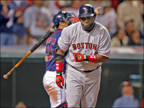 David Ortiz tossed his bat in disgust after popping up in the eighth inning.
