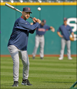 Terry Francona hit some fungoes during Wednesday's optional workout.