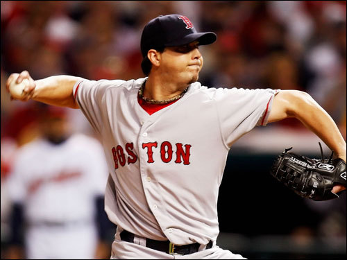Beckett looked to keep the Red Sox pennant hopes a live with a win in the first deciding game of the series.