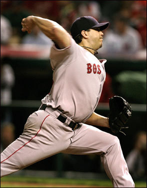 Josh Beckett had a low pitch count through seven innings.