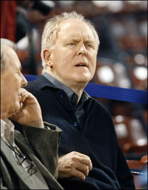 Actor John Lithgow was among the fans before the game.