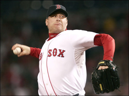 Curt Schilling didn't allow a hit in the first inning.
