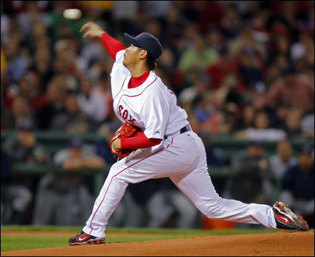 Daisuke Matsuzaka made the start for the Red Sox in Game 7 of the ALCS.