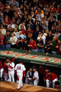 Fenway fans cheered as Dice-K walked to the dugout after a perfect first inning.