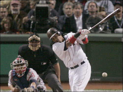 Manny Ramirez drilled a single that scored a run in the first inning.