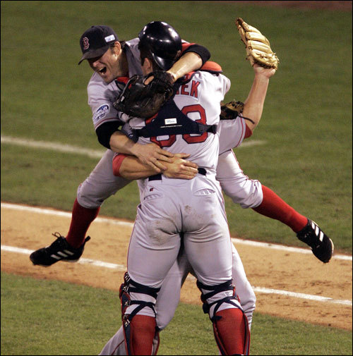 The Red Sox erased 86 years of curses, close calls, and angst by completing an improbable run to a World Series title in 2004. That they did it at all was an incredible story. That they did it after being down 3-0 to the Yankees in the ALCS and by sweeping the Cardinals in the World Series was epic.   Read the rest of the story