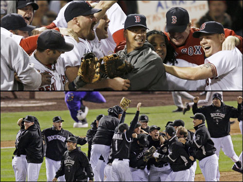 After a thrilling ALCS comeback, the Red Sox face the red-hot Colorado Rockies -- winners of 21 of their last 22 games (no, that's not a typo) -- in the World Series. We'll break down this matchup, position by position, and then ask you to tell us which team has the advantage at each spot on the diamond. ( Text by Ben Gellman-Chomsky, Boston.com )