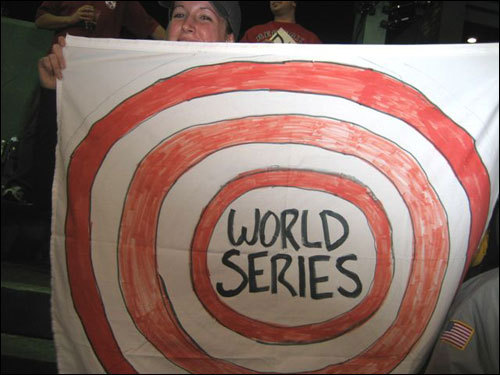 Jim Crowell and friends had their eyes on the prize in Game 6 of the ALCS.