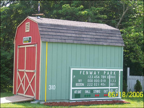 Ed Brostek's shed in Norwich, Conn., shows his level of devotion to the Sox.