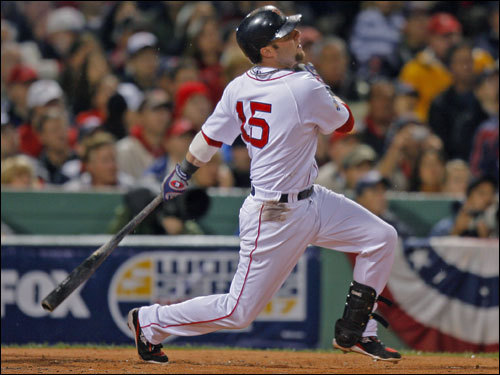Pedroia followed through on his first inning home run.