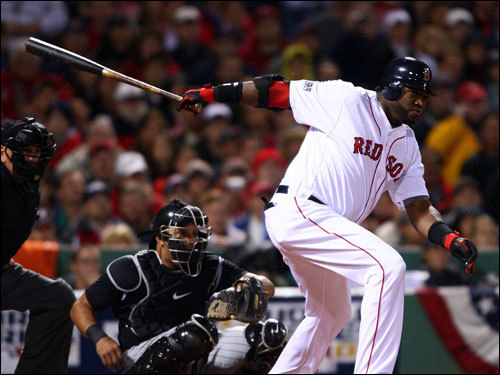 David Ortiz grounded out to first in the first inning. The play moved Kevin Youkilis to third base with one out.
