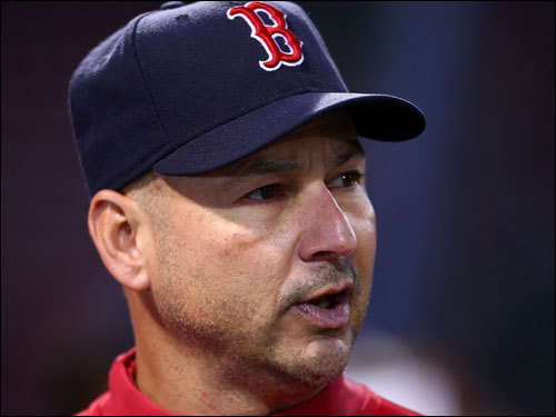Terry Francona looked on during batting practice.