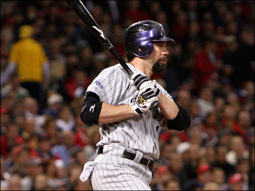 Rockies slugger Todd Helton hit an RBI ground out in the first inning.