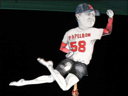 The best feature of The Dancing Papelbon is that his legs move when someone swings the stick.