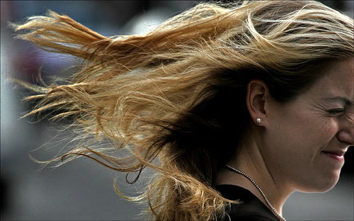 Sudden and strong gusts of wind on Tuesday caused more bad hair days than usual along Boylston Street.