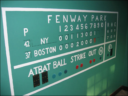 Michela Deck's room gives her the feeling that she's always close to Fenway.