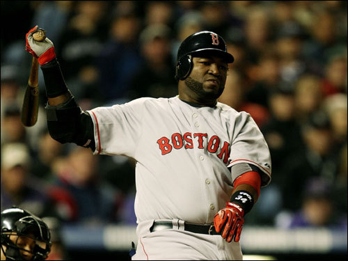 David Ortiz struck out in the first inning.