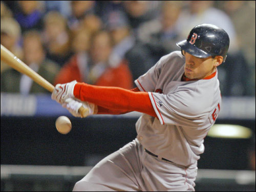 Red Sox leadoff man Jacoby Ellsbury hit an infield single in the first inning .