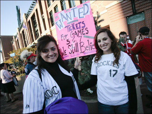 A couple of Colorado fans believed there would be games 5, 6, and 7 of the World Series.