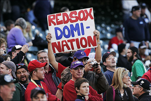 Red Sox fans showed their support.