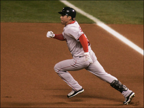 Ellsbury made his way to second base on his first-inning double.
