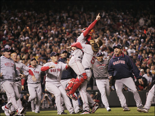 2007 Red Sox celebrating World Series win