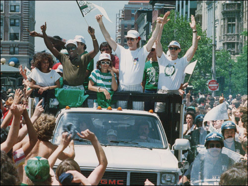 June 10, 1986: A motorcade rolled through Boston after the Celtics won their 16th NBA title.