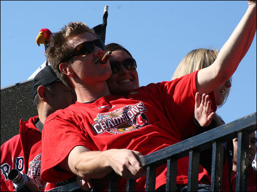 Papelbon and his wife, Ashley, soaked it in amid the backdrop of a cloudless blue sky and crisp fall weather.