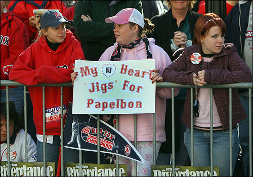 Papelbon's pitching talent as well as his unique dancing brought plenty of fans out to the parade.