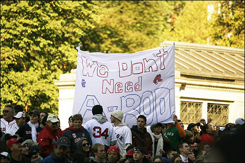 Some fans made it clear how they feel about the possibility of having Alex Rodriguez in a Red Sox uniform.