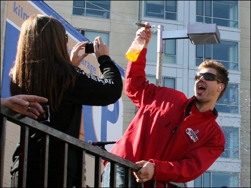 Papelbon posed for a photo taken by his wife Ashley.