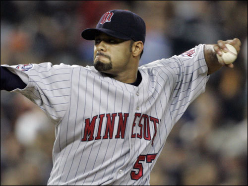 With Curt Schilling potentially out of the starting mix, would the Sox go after another front line starter via the free agent or trade route? Minnesota's Johan Santana is a name that often comes up in trade rumors, as the powerful lefty is not expected to re-sign with Twins when his contract expires at the end of the season, making him prime trade bait this offseason. Whether the Sox can meet his price tag is another story.