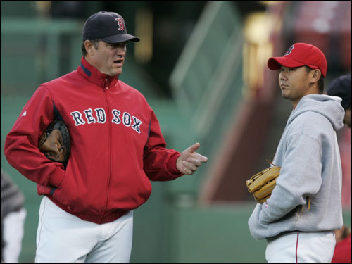 Red Sox president Larry Lucchino said yesterday that the Pittsburgh Pirates have not yet asked to talk to Sox pitching coach John Farrell about their managerial vacancy, but the rumblings are out there that the Pirates are interested in talking with him. How will the Sox fill Farrell's shoes if he leaves? And will one of Farrell's biggest supporters, Curt Schilling, follow him to a new team?