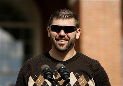 Varitek spoke, as did fellow catcher Doug Mirabelli.